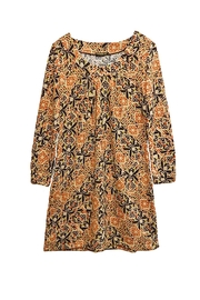 Gizel Rust Print Tunic - Product Mini Image