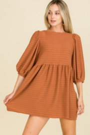 Mojito Mango Rust Ribbed Dress - Product Mini Image