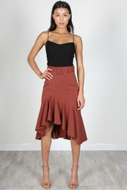 essue Rust Ruffle Skirt - Front cropped
