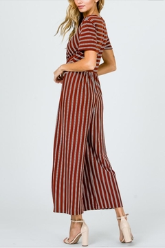 Ces Femme Rust Striped Jumpsuit - Alternate List Image