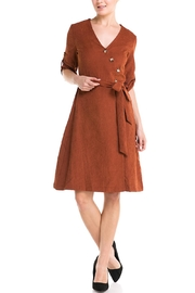 HYFVE Rust Wrap Dress - Product Mini Image