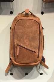 Rust Sydney  Genuine Buffalo Leather Backpack, Executive - Front cropped