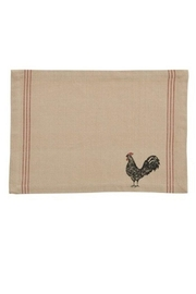 Park Designs Rustic Rooster Placemat - Front full body