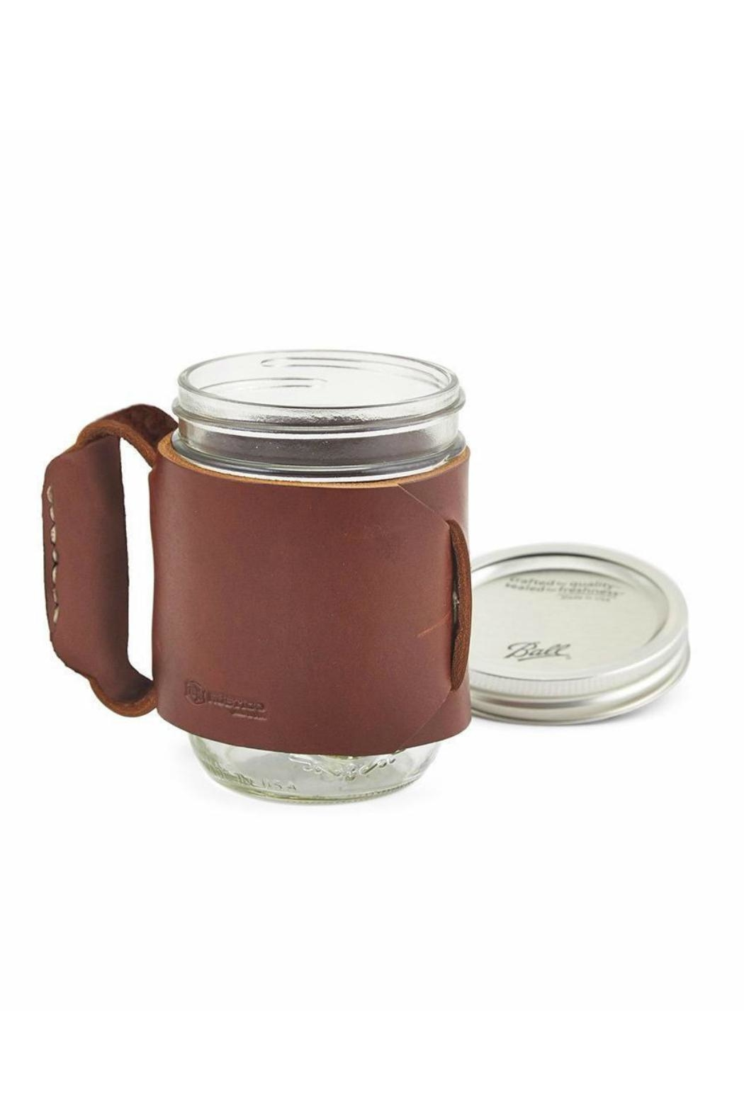 Rustico Leather Miner Mug - Front Cropped Image