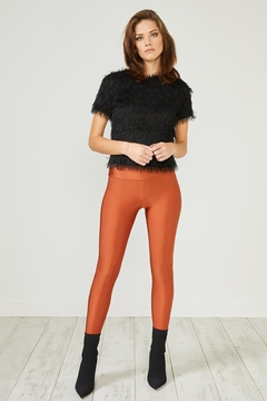 Urban Touch Rustred Glitter Leggings - Product List Image