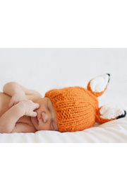 The Blueberry Hill Rusty Fox Knit Hat - Front full body