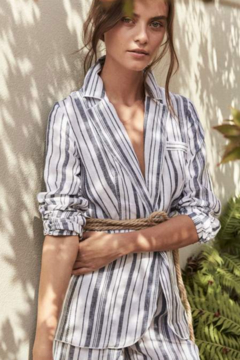 d3cf3efdbc ... Michael Stars Ruth Striped Linen Blazer - Product List Image