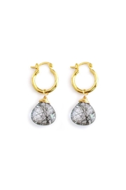 Malia Jewelry Rutilated Quartz Hoops - Product Mini Image