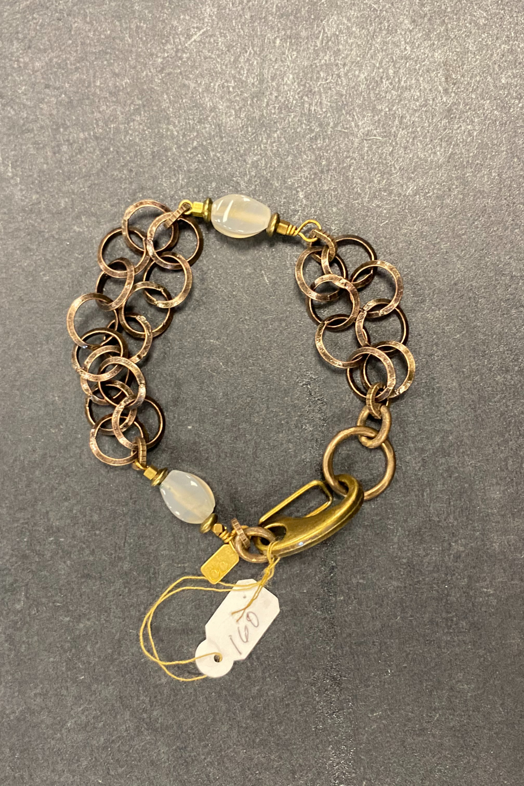 debe dohrer design Rutilated quartz on brass circles - Front Full Image