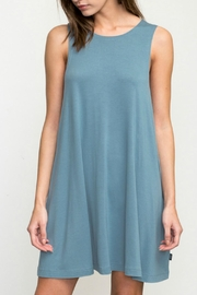 RVCA Teal Swing Dress - Front cropped