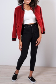 RVCA Corduroy Bomber Jacket - Back cropped