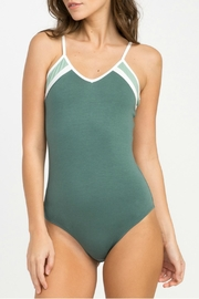 RVCA Green Repeat Bodysuit - Front cropped