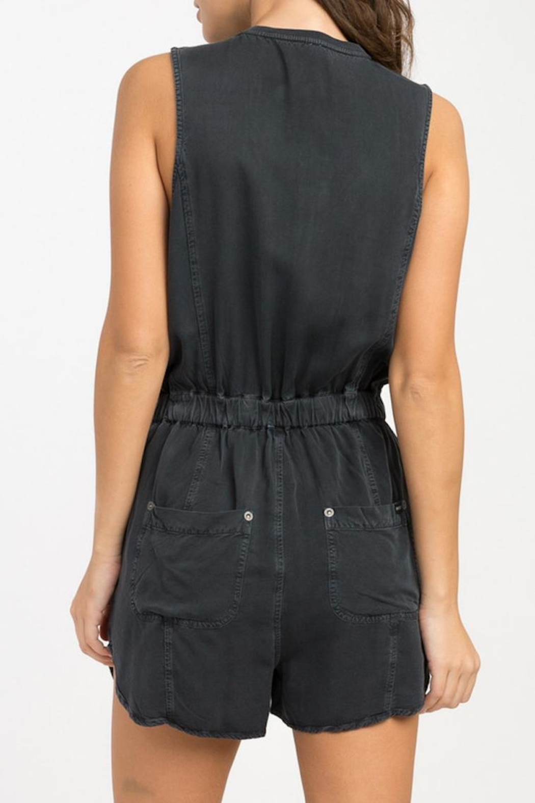 RVCA Hitched Woven Romper - Front Full Image