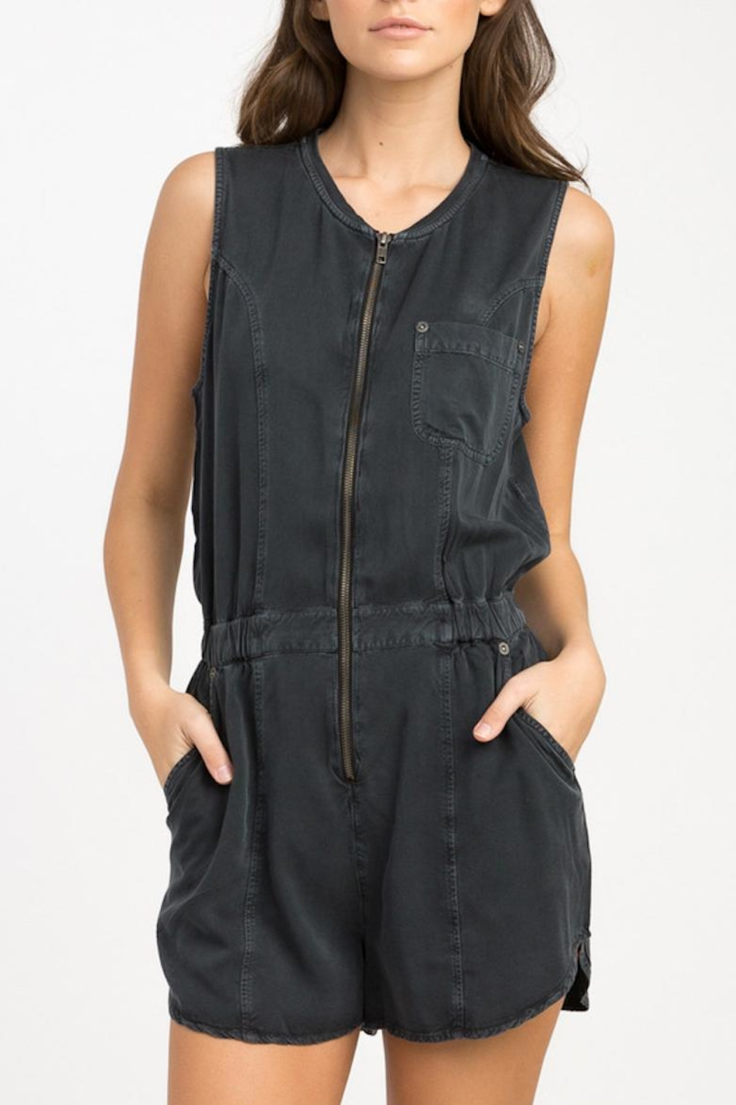 RVCA Hitched Woven Romper - Main Image