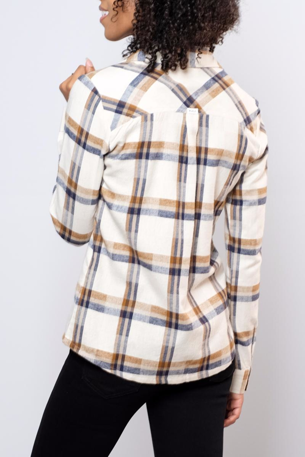 RVCA Jig Flannel Blouse - Side Cropped Image