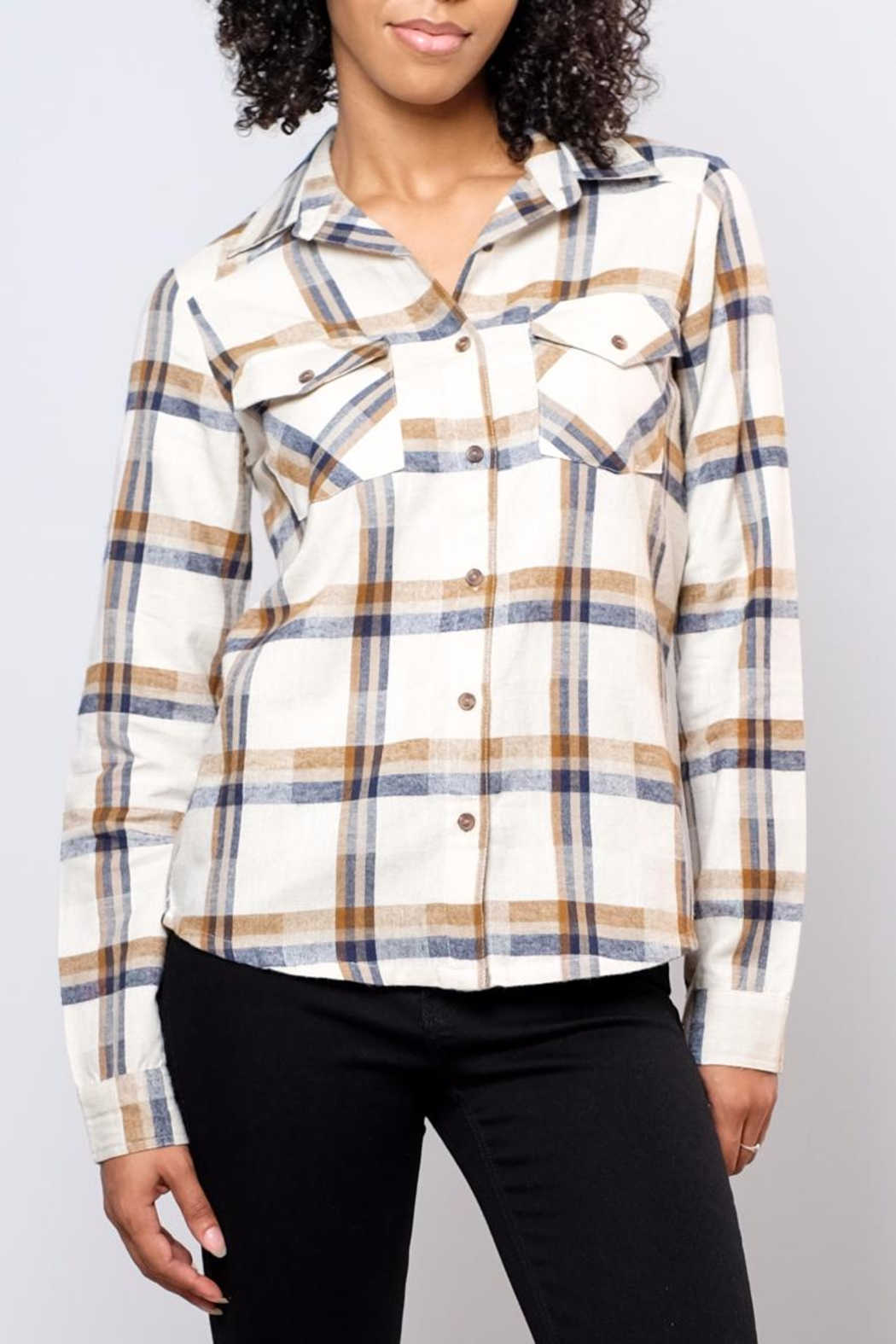 RVCA Jig Flannel Blouse - Main Image