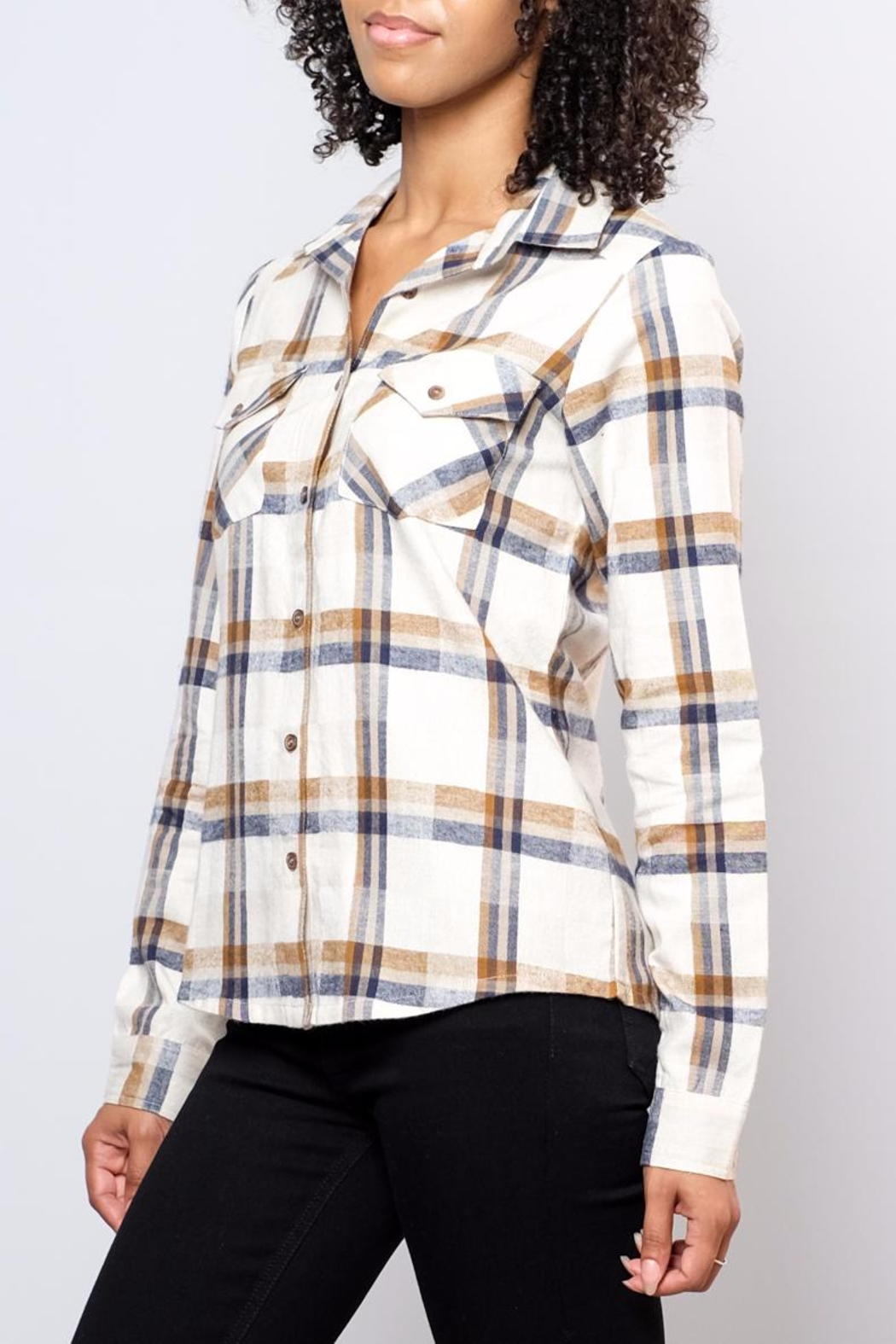 RVCA Jig Flannel Blouse - Front Full Image