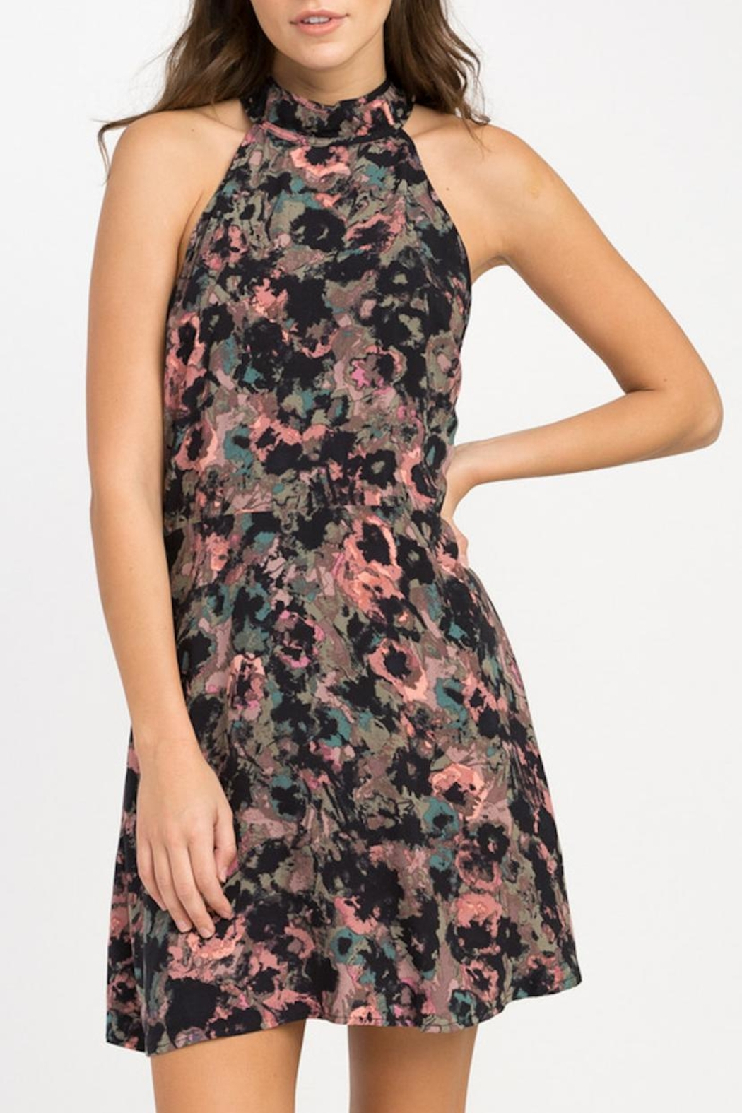 RVCA Kingsman Floral Dress - Front Cropped Image