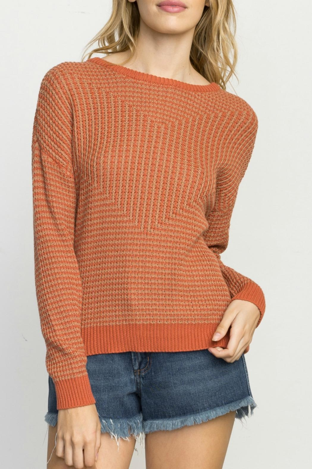 RVCA Light Up Sweater - Front Cropped Image