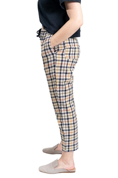 RVCA Plaid High-Waisted Jogger - Alternate List Image