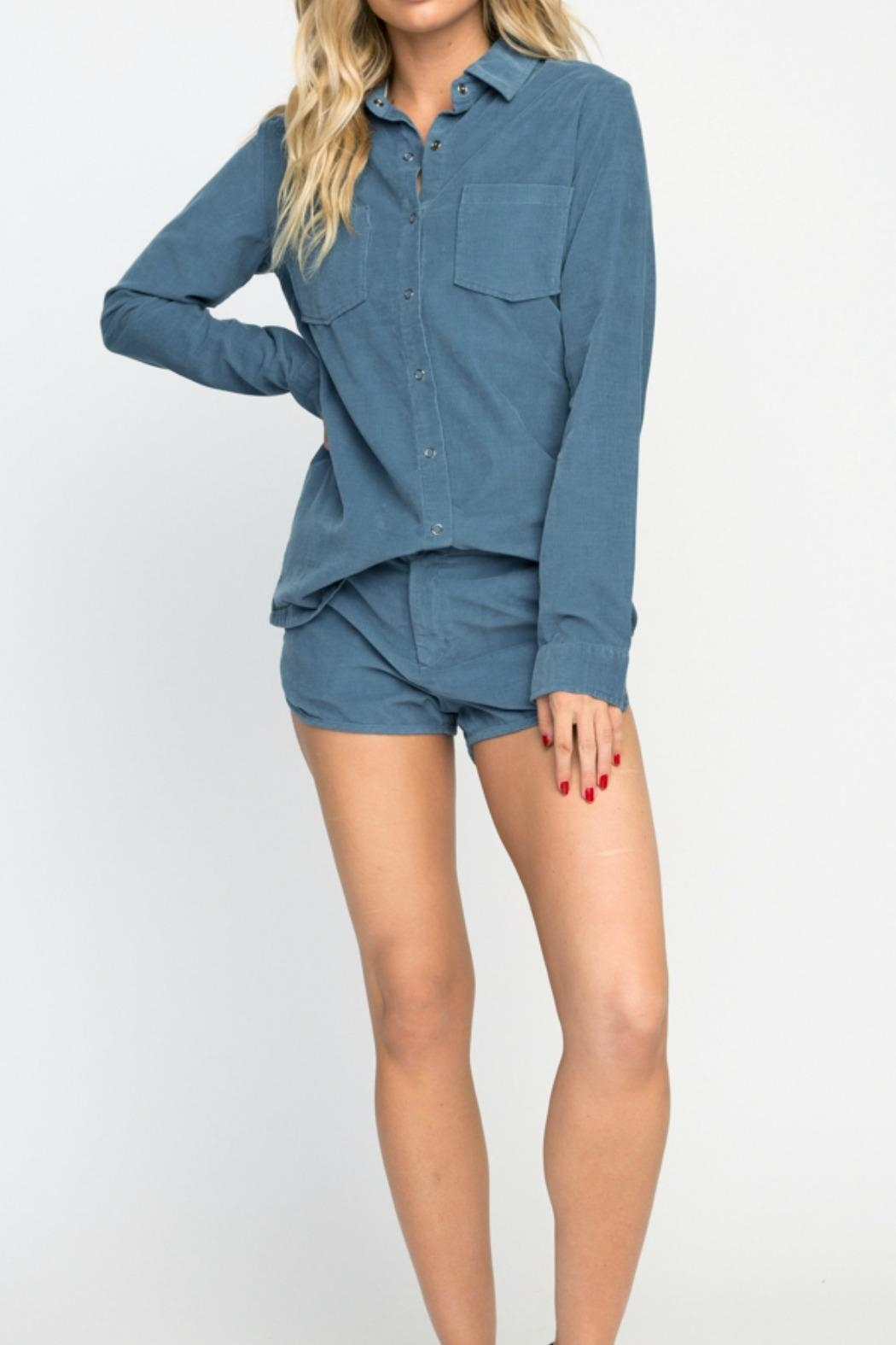 RVCA Play Pretend Top - Side Cropped Image