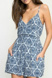 RVCA Triangle Printed Romper - Front cropped