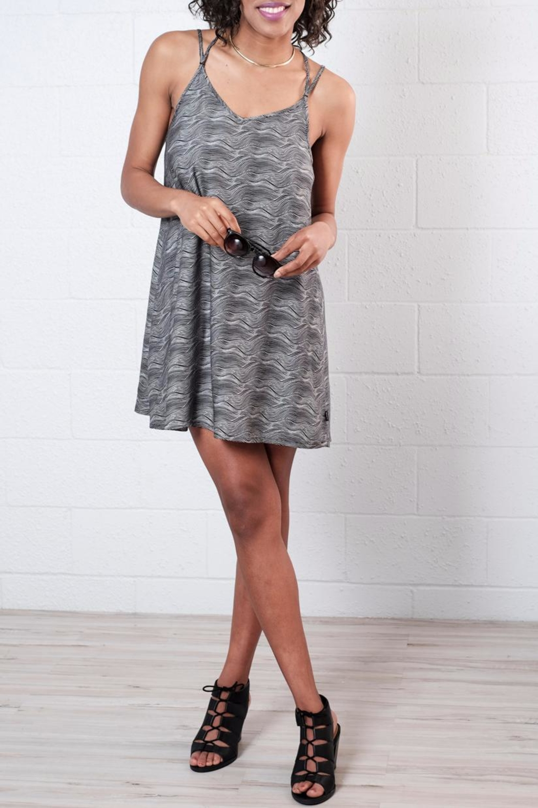 RVCA Printed Slip Dress - Front Cropped Image