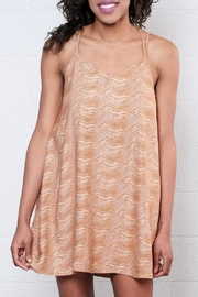 RVCA Printed Slip Dress - Front cropped