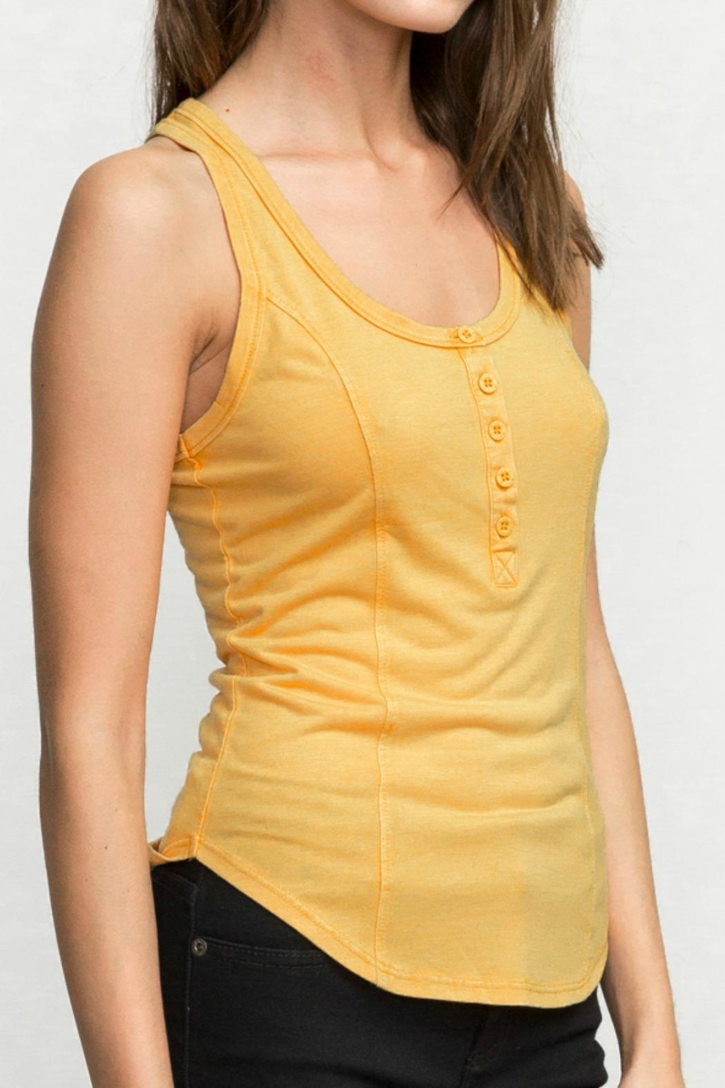 RVCA Racerback Tank Top - Side Cropped Image