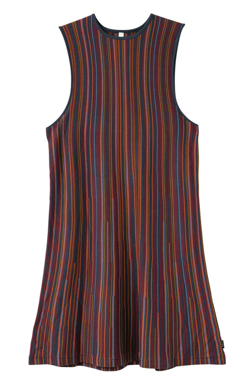 RVCA Striped Knit Dress - Back Cropped Image