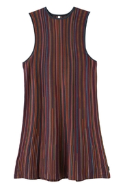 RVCA Striped Knit Dress - Back cropped