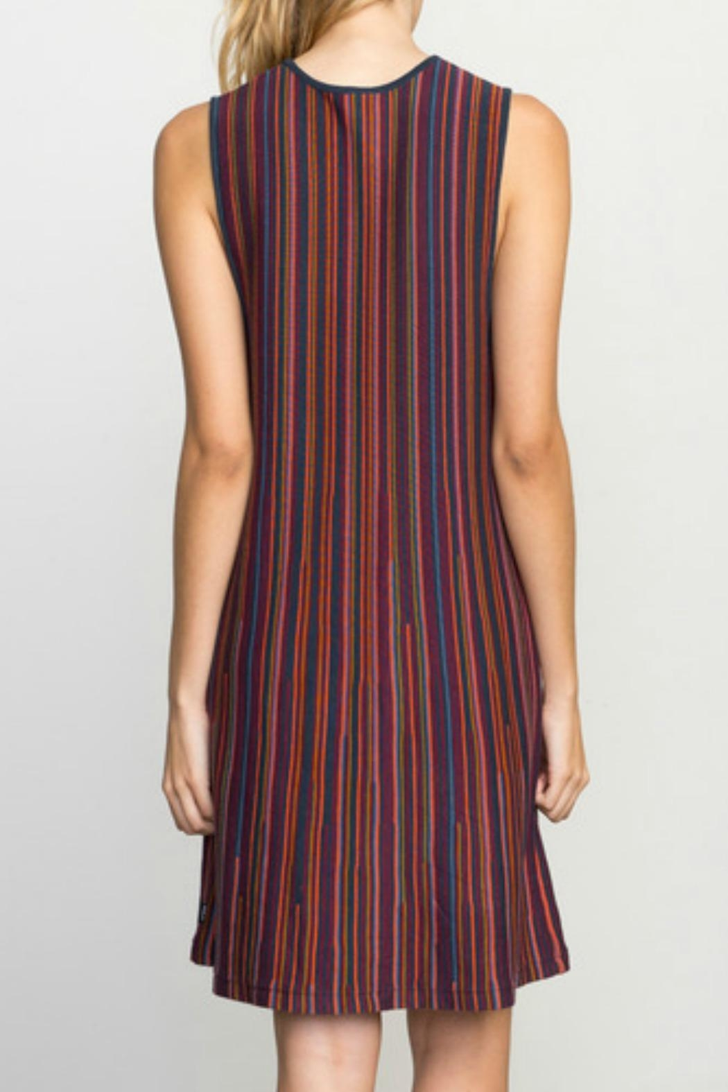 RVCA Striped Knit Dress - Front Full Image