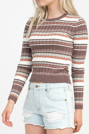 RVCA Striped Raisin Sweater - Product Mini Image