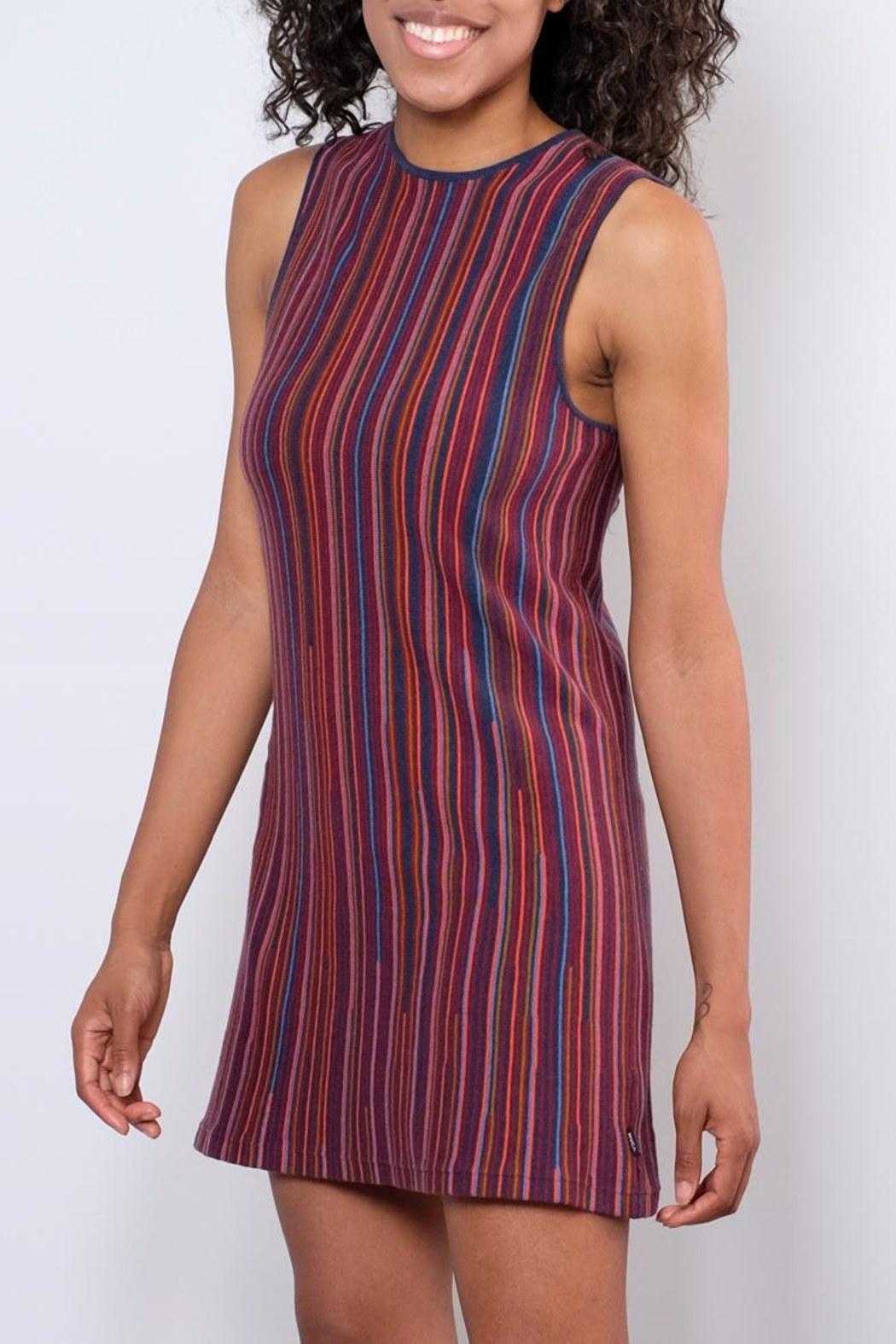 RVCA Striped Sweater Dress - Front Full Image