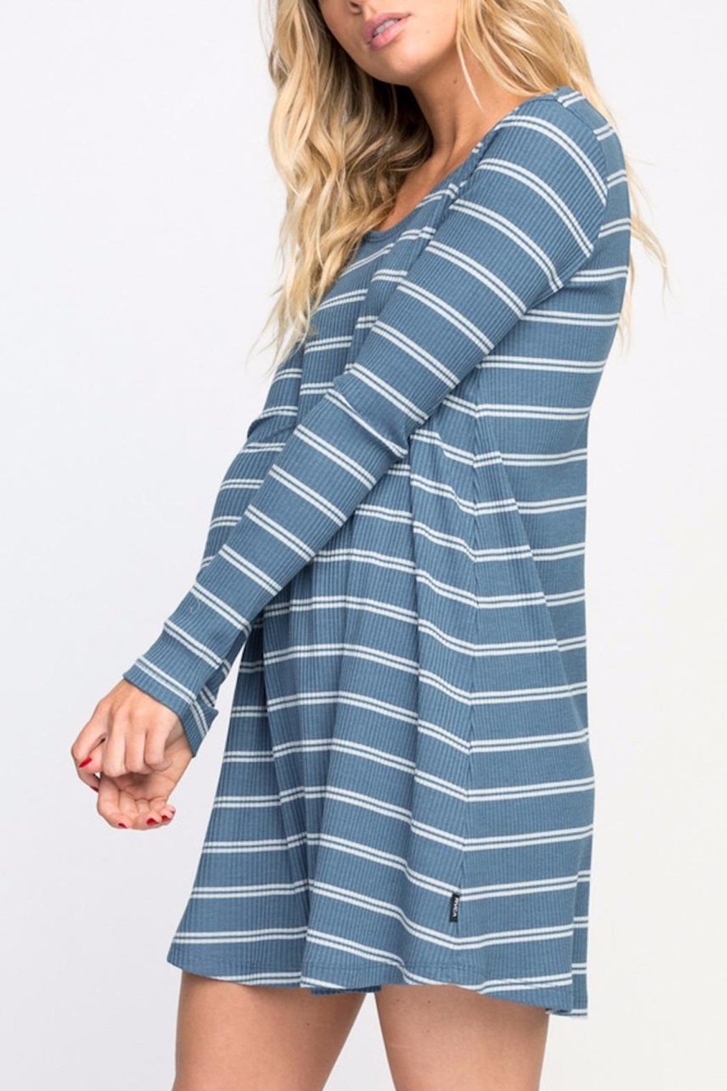 RVCA Striped Swing Dress - Front Full Image