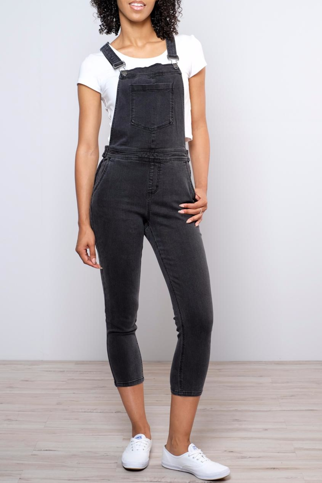 RVCA Sweetness Cropped Overalls - Main Image