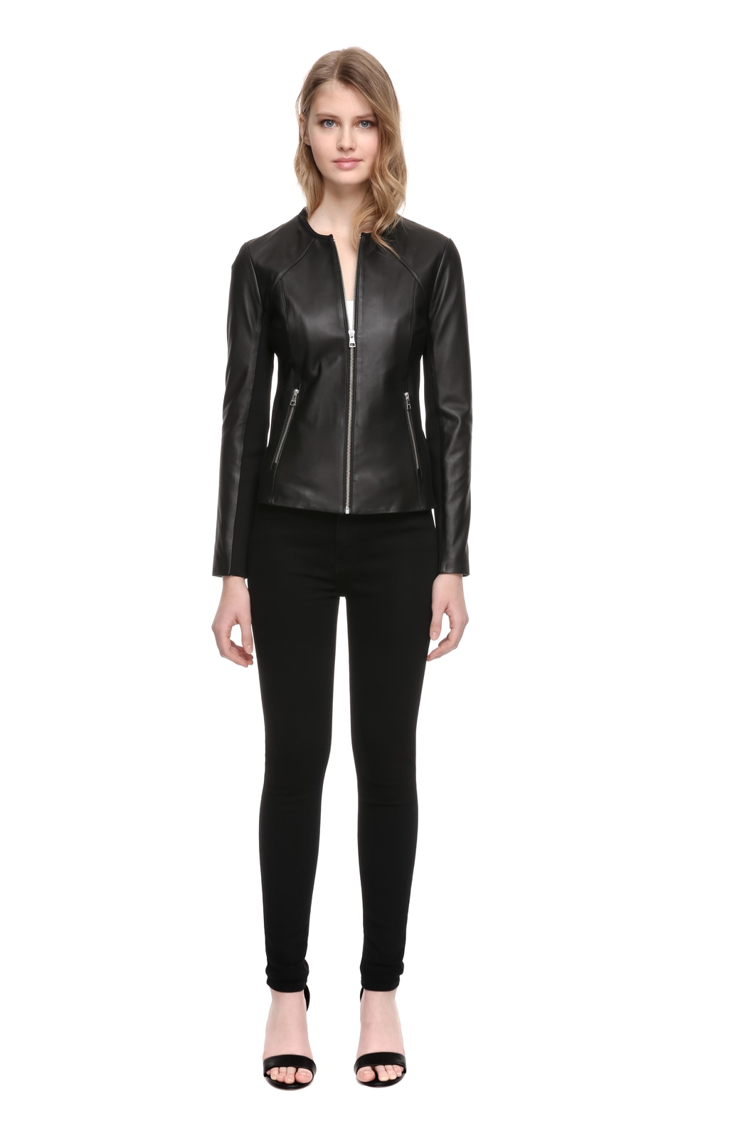 Soia & Kyo Rylee Leather Jacket - Front Full Image