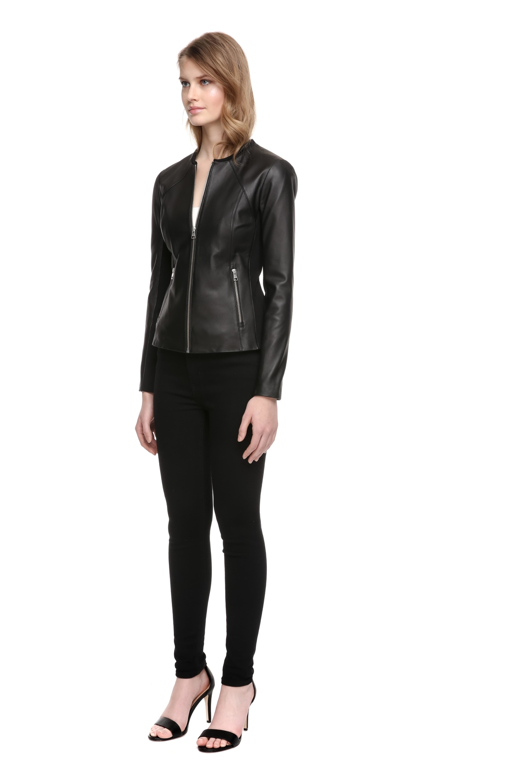 Soia & Kyo Rylee Leather Jacket - Side Cropped Image
