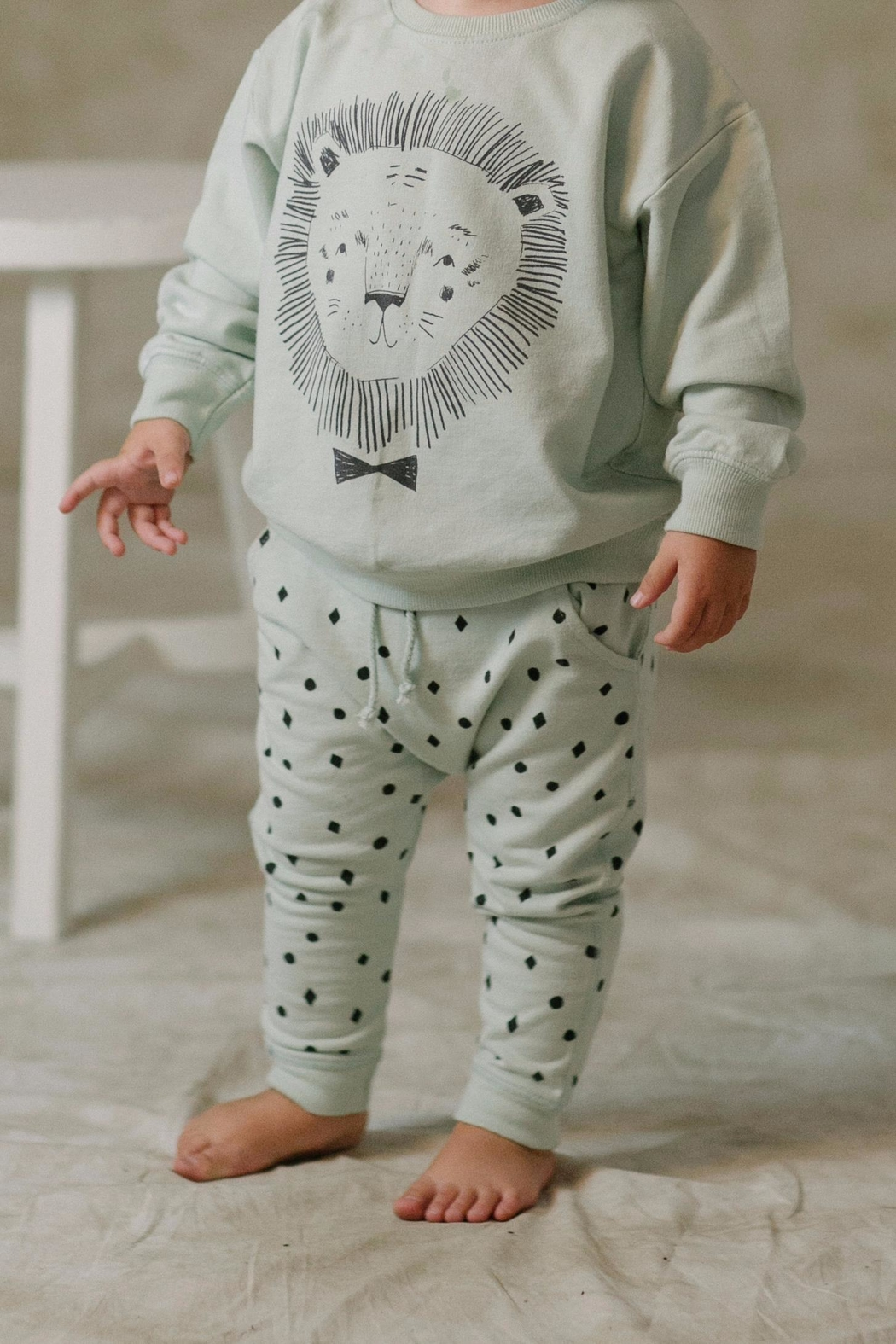 Rylee & Cru Dots Diamonds Sweatpants - Front Cropped Image