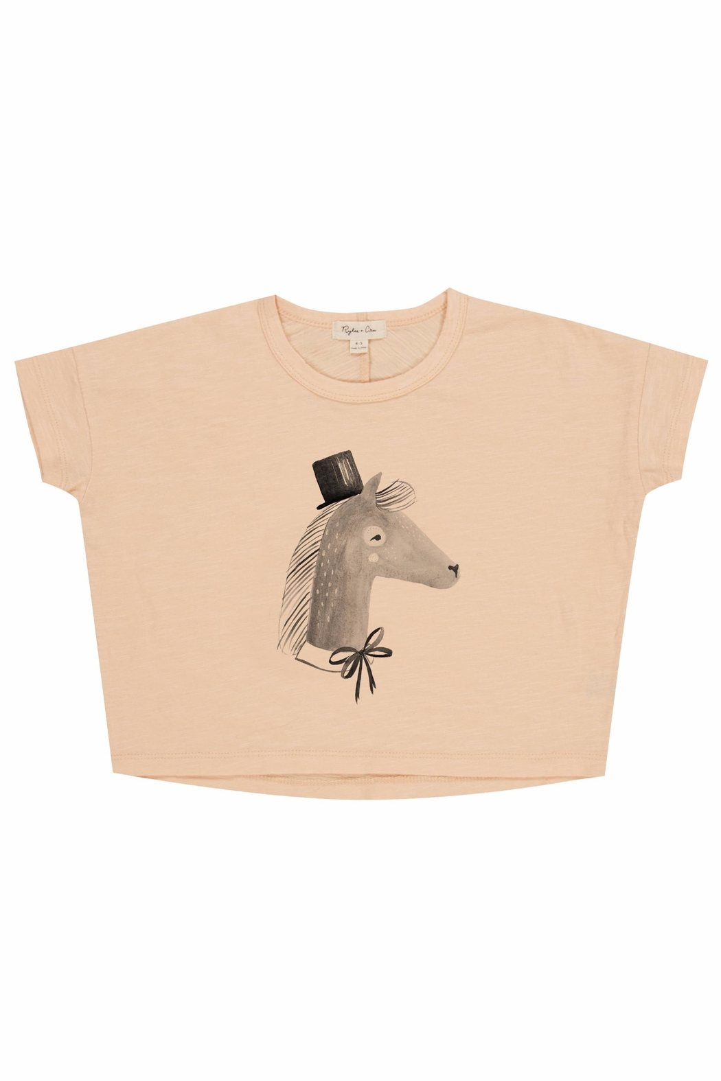 Rylee & Cru Horse Boxy Tee - Front Full Image