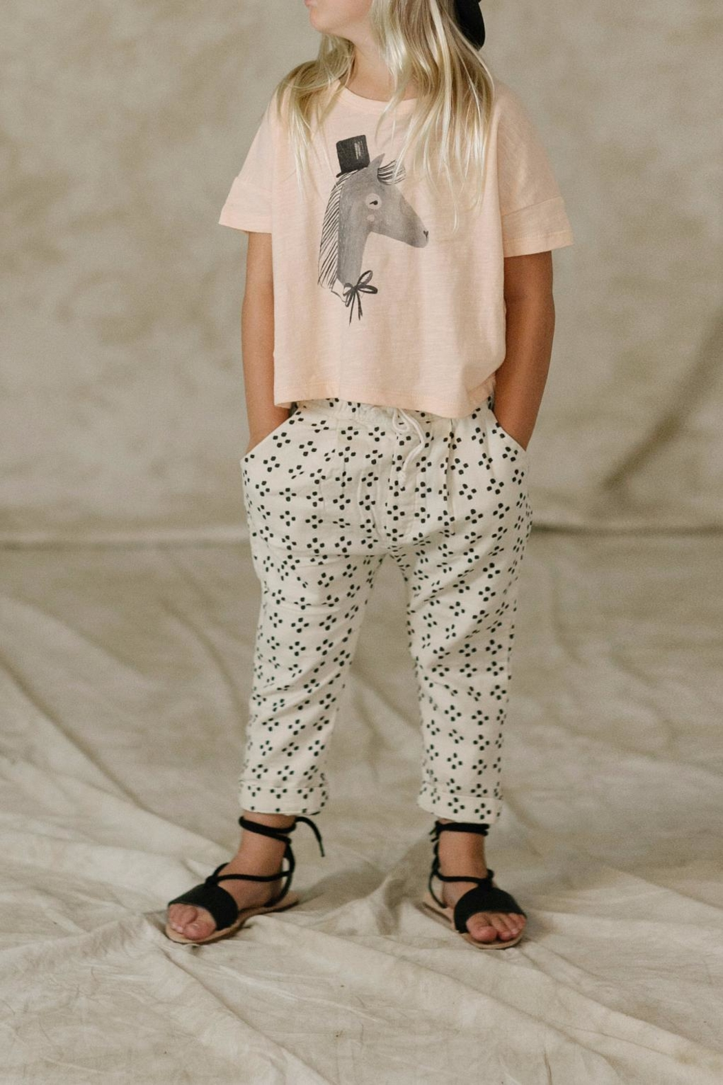 Rylee & Cru Horse Boxy Tee - Front Cropped Image