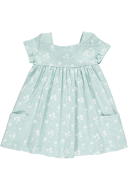 Vignette Rylie Dress - Aqua Dandelion - Product Mini Image