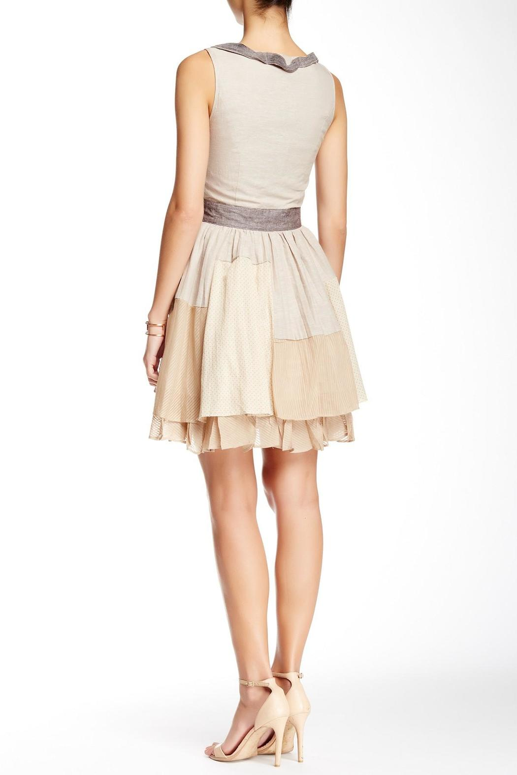 Ryu Beige Patched Dress - Front Full Image