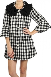 Ryu Bellsleeve Houndstooth Coat - Front cropped