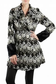 Shoptiques Product: Black Embroidered Coat