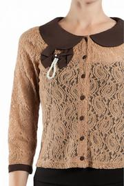 Shoptiques Product: Brown Cardigan - Front full body