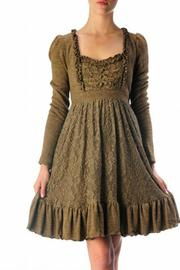 Ryu Brown Lace Dress - Product Mini Image