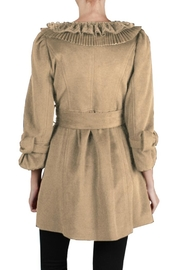 Ryu Camel Tie Coat - Front full body