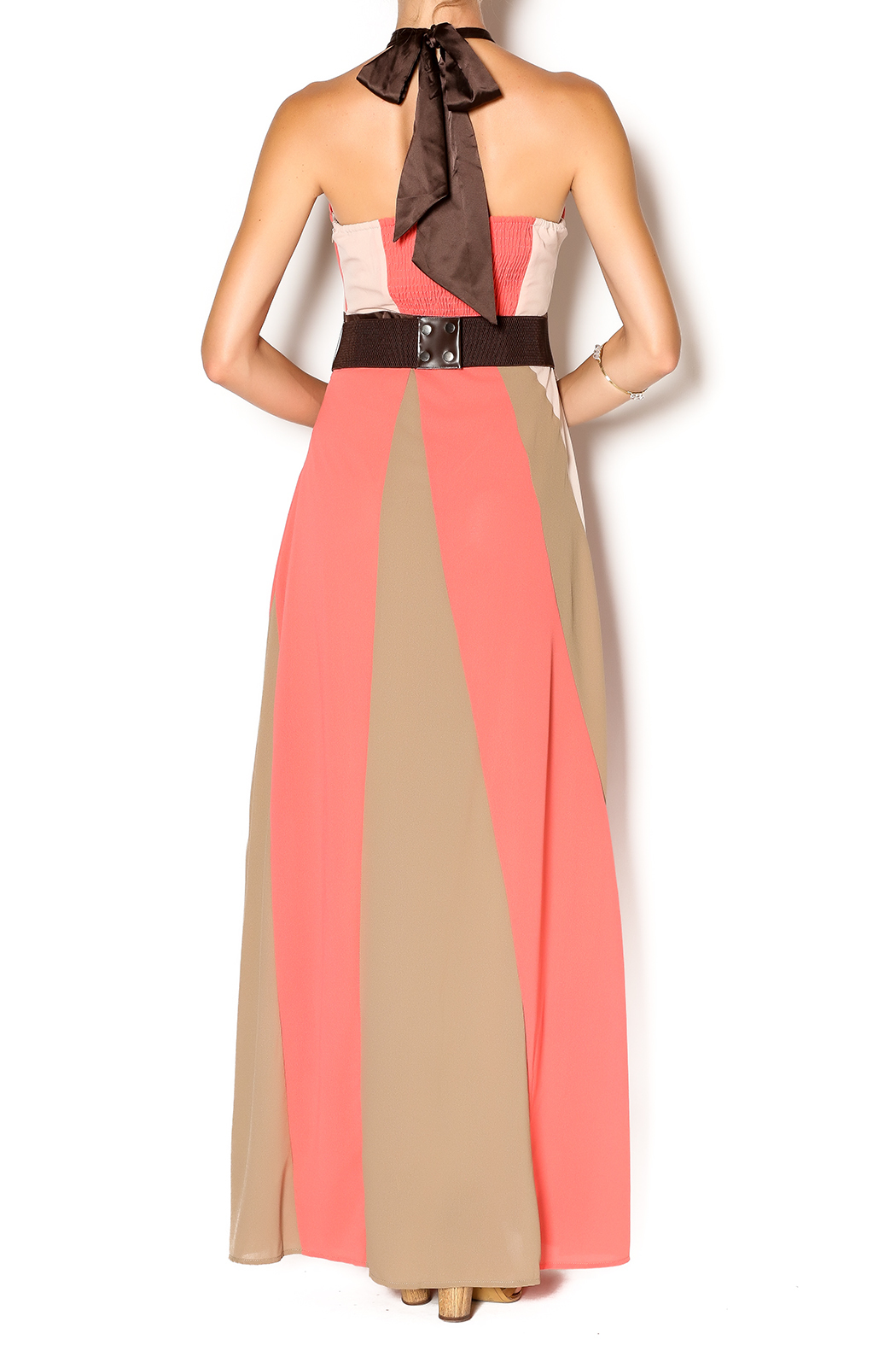 Ryu Coral Bloom Maxi - Back Cropped Image