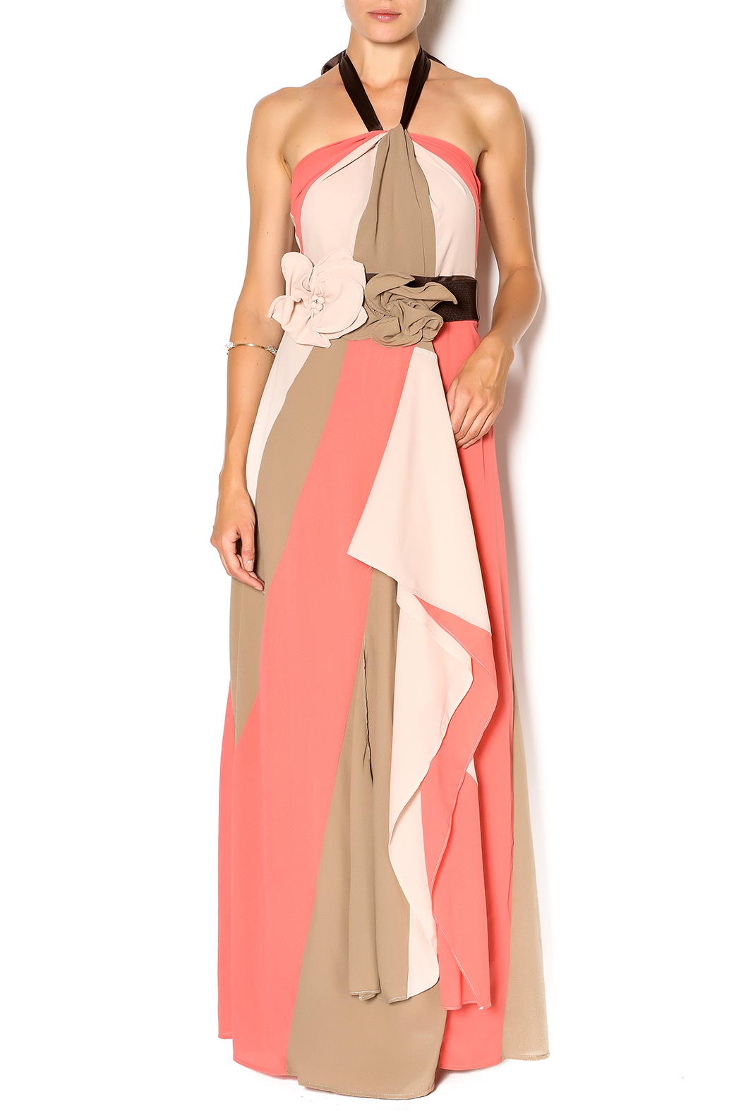 Ryu Coral Bloom Maxi - Front Cropped Image